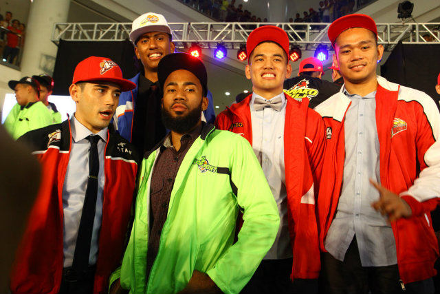 L-R: Chris Banchero, Matt Rosser, Stanley Pringle, Kevin Alas and Ronald Pascual (Photo by Josh Albelda )